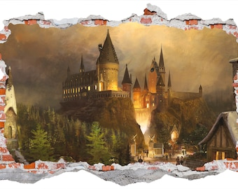 Hogwarts, Harry Potter Castle Wall Sticker, Wall Decals