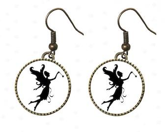 Earrings dark forest, Elf, Elf, forest