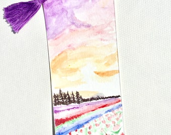 Sunset landscape bookmark