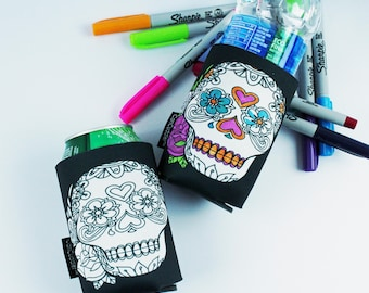 Adult Coloring - Coloring Party Favors - Coloring pages for adults - Coloring Gifts - Sugar Skull - Color Me Cuddler® by CanCuddler®-HEART