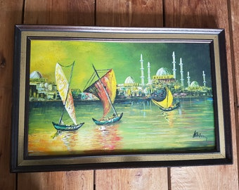 Beautiful oil painting with frame
