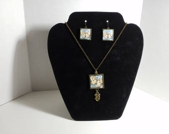 Handmade Necklace And Matching Earring Set