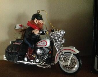 Vintage Harley Davidson Ornament 'Letters to Santa'