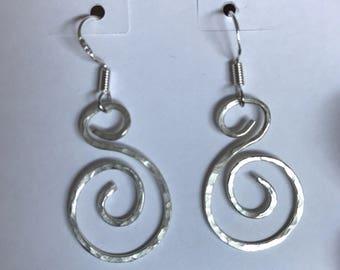 Hammered Swirl Earrings