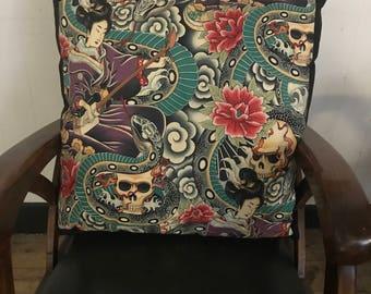 Alexander henry cotton print cushion