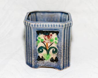 Vintage Hand Painted Pot - Majolica - Made in Japan