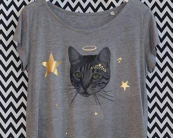 Shirt cats of cats star XS-XL / / modal organic organic fairtrade