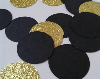 Black graduation confetti, graduation college, confetti, paper confetti, glitter confetti, black graduation party, graduation party decor.