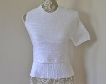 J.W. Anderson textured asymmetrical one sleeve stretch top, made in Italy, size M ( S ).