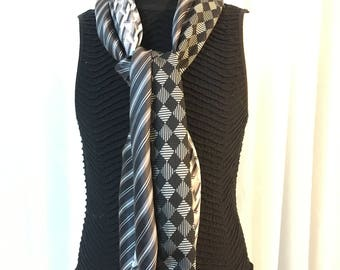 Unique scarf in recycled ties