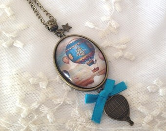 Cameo turquoise globe necklace.