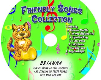 Personalized children's music CD - Your Child's Name in the song! Friendly Songs.