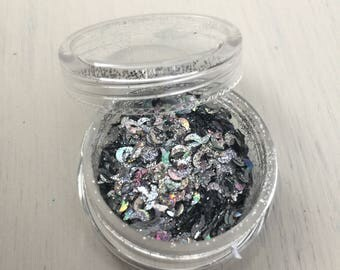 Silver Holographic Moons Glitter