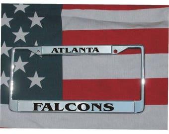 ATLANTA FALCONS Football Chrome Laser Engraved License Plate Frame FREE Shipping