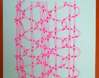 Chain Links Risograph Poster