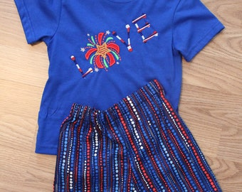 24 month/2T Boys Summer Shorts Set: 4th of July!!
