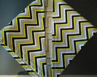 S Chevron Yellow Black & White Bandana