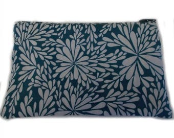 Small Lined Zipped Pouch, Small Zip Pouch, Lined Zipper Pouch, Small Make Up Bag, Notions Bag, Small Personal Effects Bag, Small Effects Bag