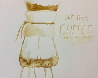 Coffee painting painted with Coffee