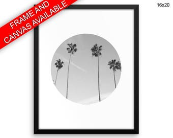 Photography Printed  Poster Palm Framed Photography  Canvas Palm paradise print tropical black white nature photo plant art tropic decor