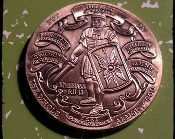 Armor of God USMC Marine Corps High Relief Challenge Art Coin