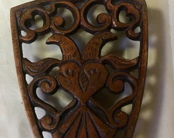 Copper plated cast iron- 1960s Iron rest/trivet