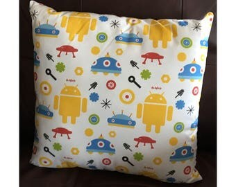 Fun Robot Throw Pillow