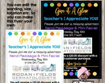 R+F Flyer  Mini Facial/Hand Treatment Spa Day