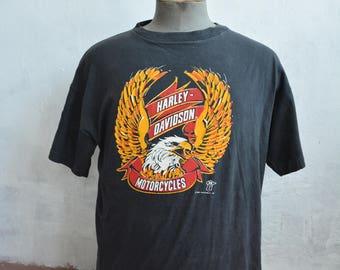 Vintage Harley Davidson T Shirt Mens XL Motorcycle Biker 1980s 1987