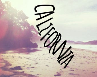 California Decal | California Sticker | California Word Decal | State Shape Decal | Laptop Decal Sticker | MacBook Decal | Car Decal