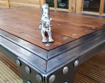 Industrial Coffee Table, Handmade,Steel,Oak & Bespoke,