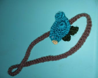 Blue bird headband crochet