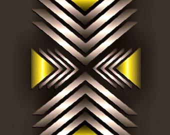 GRAPHIC METAL ART 106 - set of 3 - canvas - canvas - poster - color - color - graphic art - graphic art - modern art - modern art