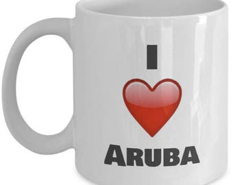I Love Aruba, Aruba Mug, Aruba Coffee Mug, Aruba Gifts, Aruba Lover Gifts
