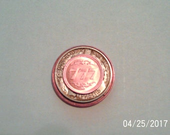 Astronomical 777 Coin Grounded by .999 pure copper.