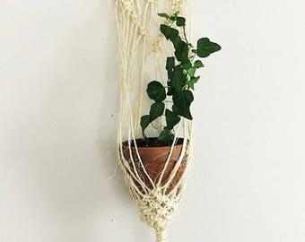 Jute macrame plant hanging basket