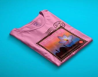 t-shirt girl - teen - pink - mini shopper - button - pin - sensory journeys - saffron - dream - handmade - gift idea - kokoronaif tees