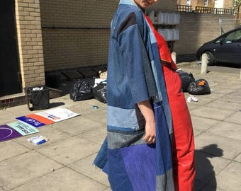 Handmade patchwork denim Japanese Boro Jacket