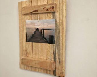 Pallet wood photo frame, rustic wood photo display