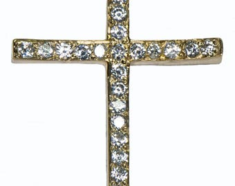 Diamond Gold Cross Pendant