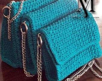 Handmade, knitted bag in three sizes