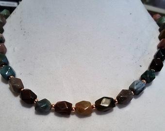 Fancy Jasper & Copper beads