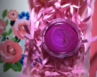 Sparkling purple lipstick
