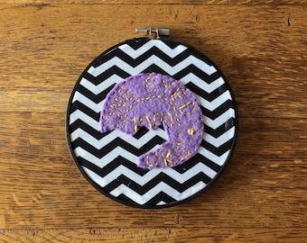 Broken Poker Chip Embroidery Hoop