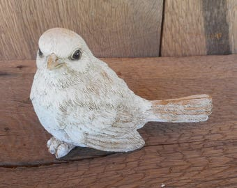 Floral Supplies White Sitting Bird 5 inches long