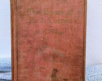 Vintage Childrens Book The House At Pooh Corner by A.A. Milne
