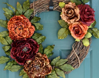 door wreath, wreath, fall wreath, year round wreath, everyday wreath, front door wreath, summer wreath, wreaths