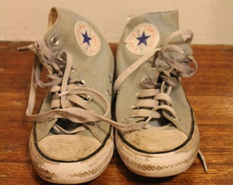 Converse All Star Classic Chuck Taylor Sneakers Baby Blue Well Worn Size Mens 5 Womens 7 EUR 37.5