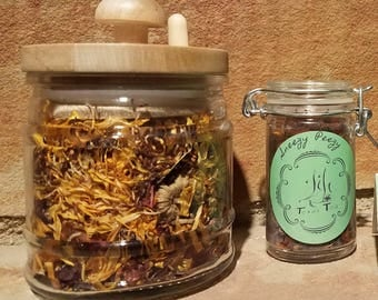 Sneezy Peezy - herbal tea - allergy tea - sinus relief-Calendula tea - Hibiscus - Organic - Calendula