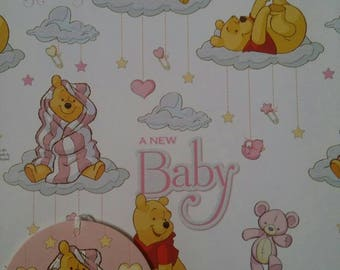 Winnie the Pooh New Baby Gift Wrapping Paper